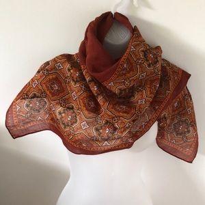 VTG Hattie Carnegie Paisley Wool Scarf/Wrap Square